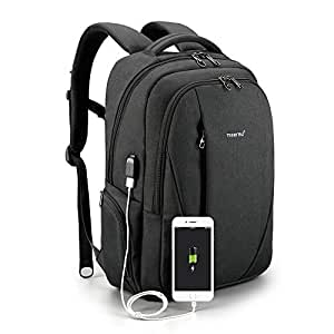 Tigernu Laptop Backpack Business Backpack with USB Charging Port Computer School Bookbag Anti-Theft Bag for Travel School Business Men Women Fit Under 15.6 inch Laptop/MacBook, unisex-adult (luggage only), 3399Black, Black, 15.6 inch, 15 inch, 14 inch, 13 inch, 12 inch