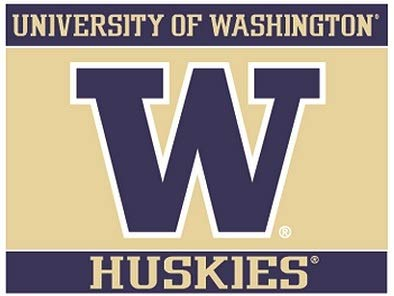 3 Inch UW W University of Washington Huskies Logo Removable Wall Decal Sticker Art NCAA Home Room Decor 3 by 2 Inches
