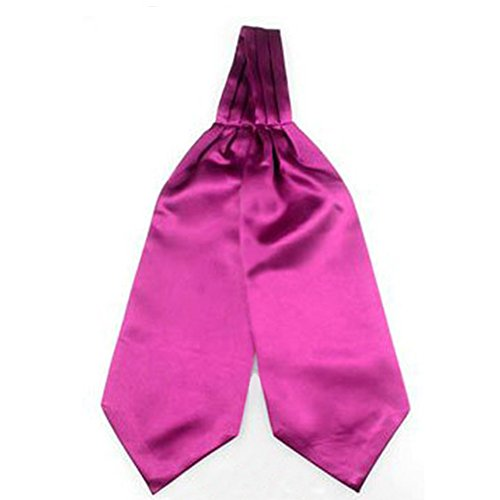 Plain Men Party Fuchsia Adjustable Silky Cravat Tied Verlike Accessory Self Tie Bow Suit Necktie Z5Fwg