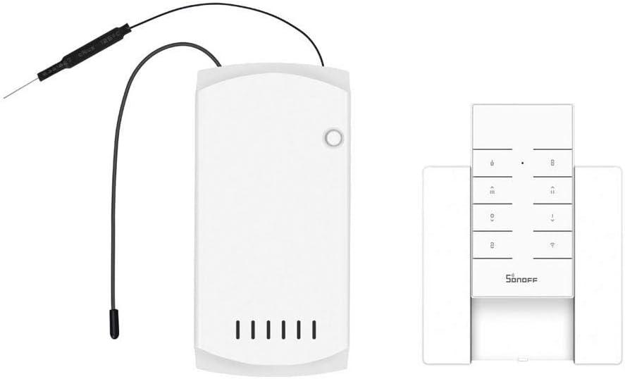 OWSOO SONOFF Control Remoto para Ventiladores de Techo y Luz con Controlador Remoto RF433 y Base