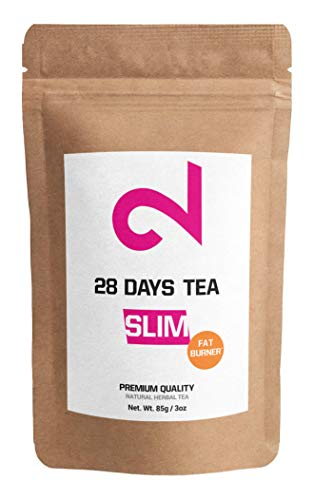 (DUAL 28 Days Fat-Burner Tea | Slim Tea for Weight Loss | Detox Tea | Diet & Fat Loss Tea | Cleanse Tea | Natural Dietary supplement | Natural ingredients for more successful diet | Made in USA | 85g)