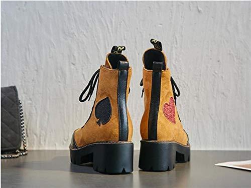 A Punta Da Spillo stivali Marrone Stivali Xe Inverno 34 Alti E stivaletti Martin Donna Tacco 43 Autunno stivali p8Awx