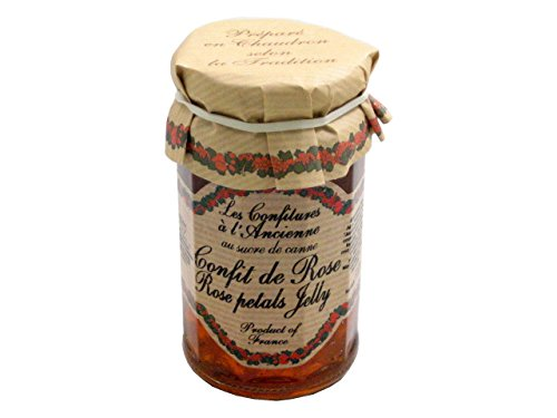 Rose Petal Jam Andresy All natural French jam pure sugar cane 9.52 oz jar Confitures a l'Ancienne, One