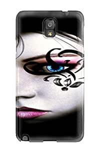 Ultra Slim Fit Hard Specially Made For HTC One M7 Case Cover - Black Tattoo