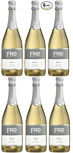 Sutter Home Fre Brut Non Alcoholic Champagne Wine Six Pack