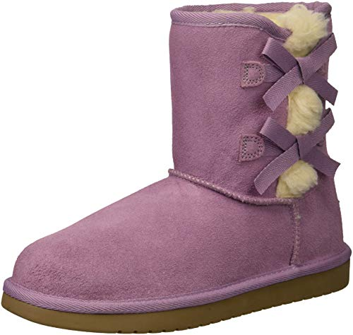 Koolaburra by UGG Unisex K Victoria Short Fashion Boot Lavender Mist 05 Medium US Big Kid