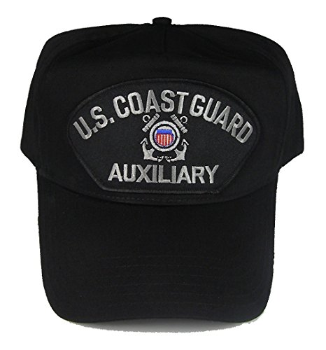 U.S. COAST GUARD AUXILIARY Hat with USCG Crest Cap - BLACK - Veteran Owned Business