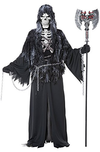[California Costumes Men's Evil Unchained Scary Ghost Demon Skeleton Grim Reaper, Black,] (Scary Halloween Costumes Mens)