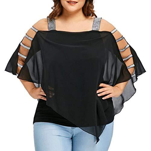 d'été bateau Noir T Zhrui Blouse Débardeur les drapé femmes Chemises Dolman shirt pour Chemises Débardeurs Top shirt col Tee Womens fHHUq8x