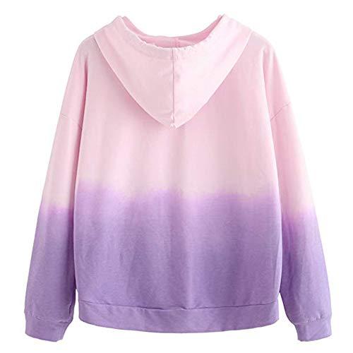magliette hoodie Shirt T grandi maniche Felpe lunghe donna donna Maniche Maglie ragazza cappuccio Camicia tumblr beautyjourney tumblr Donna eleganti sweatshirt U donna Lunghe con 7RwxH1