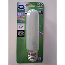 LED T10 Tube Soft White Frosted Dimmable Medium Base 25W Equivalent
