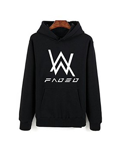Price comparison product image The New Alan Walker Logo Unisex Zip DJ head Alan Walker Denon Faded Hoodie sweater coat and tide (S)