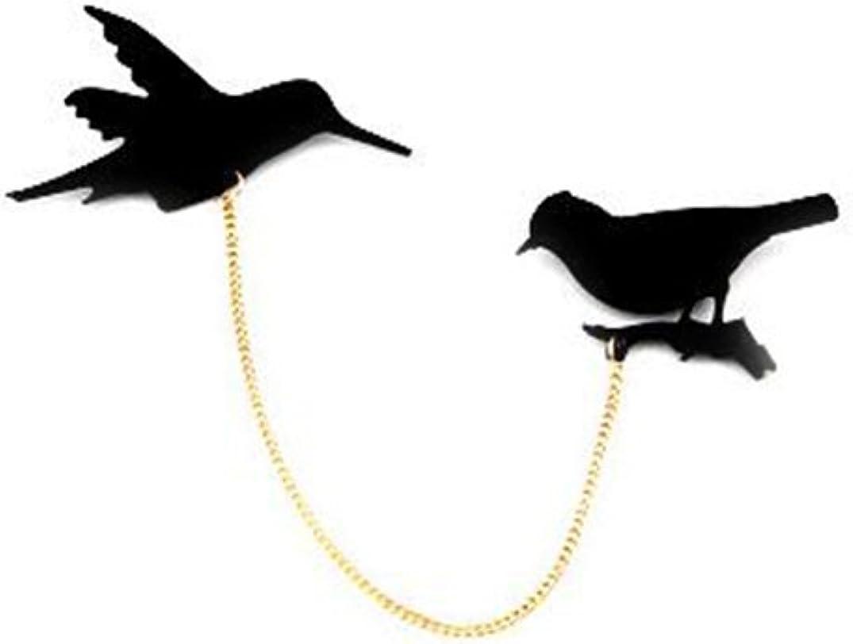 Gudeke Animal Broche de Cadena de Aves Broche de la Corona de la Camisa Retro y Pin para Las Mujeres: Amazon.es: Joyería