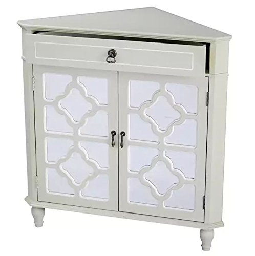 Superieur Corner Floor Cabinet With Mirror Double Door Single Drawer Corner Cabinet  Room Décor Furniture Corner Wall