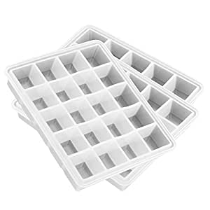 Riverbyland White Silicone Ice Cube Trays 21 cubes Set of 3