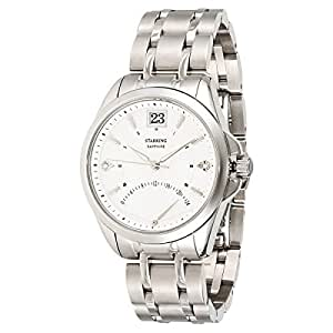 Starking Men's White Dial Stainless Steel Band Watch - BL0855SS11