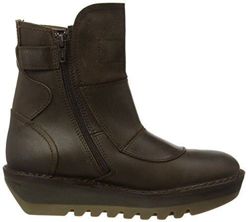 Fly London Jafi924fly, Botas Estilo Motero Para Mujer Marrón (Dk. Brown)