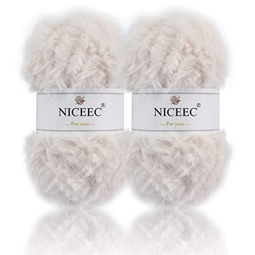 NICEEC Skeins Eyelash Crochet 2%C3%9735yds product image