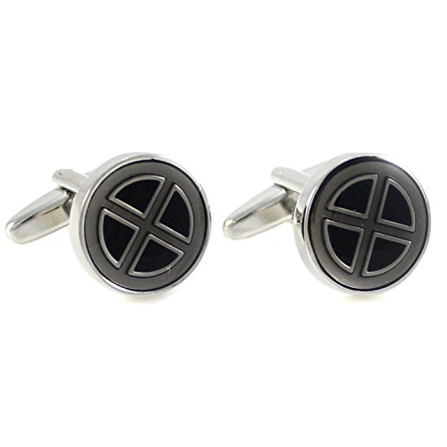 MENDEPOT Marvel Character Logo Cufflinks in Box Comic Symbol Cufflinks with Box -