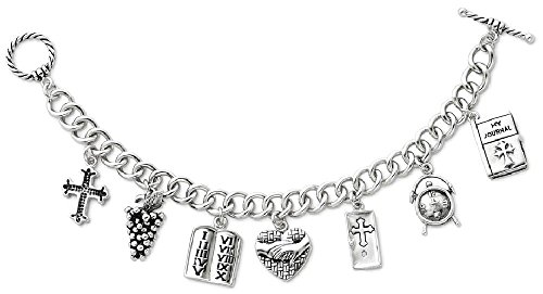 Answered Prayers Bracelet (ICE CARATS 925 Sterling Silver Answered Prayer 7.5 Inch Locket Charm Bracelet 7.50 Religious W/ Fine Jewelry Gift Set For Women Heart)