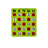Mr. Chips Jumbo Slide Bingo Shutter Cards | Deluxe Jam Proof | Easy Read Numbers | Large Sliders with Big Tabs | Extra Thick Board | Senior and Kids Friendly | Green Color