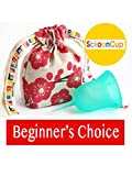 SckoonCup Beginner Choice Menstrual Cup - Made in USA - FDA Registered - Organic Cotton Pouch - Sckoon Menstrual Cup (Small, SckoonCup Aqua)