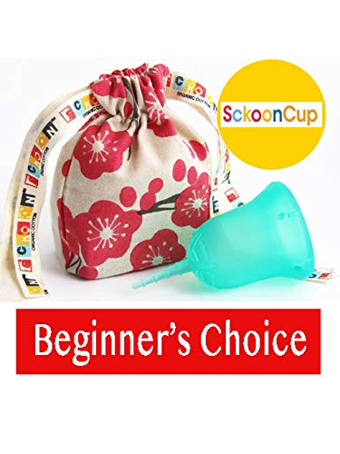 Harmony Cup - SckoonCup Beginner Choice - Made in USA - FDA Approved - Heavy Flow - Organic Cotton Pouch - Menstrual Cup - Harmony Large