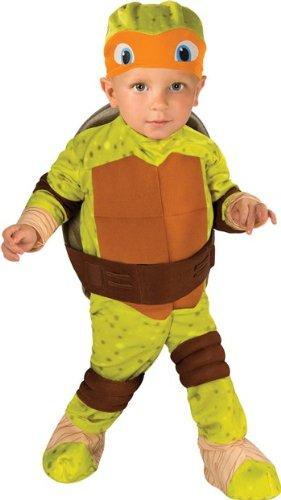 Nickelodeon Ninja Turtles Michelangelo Romper Shell and Headpiece, Green, Toddler(12-24 (Team Superhero Costumes)