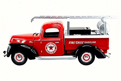 NEW 1:18 BEYOND INFINITY COLLECTION - TEXACO RED 1940 FORD FIRE TRUCK Diecast Model Car By Beyond Infinity