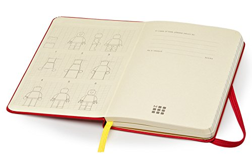 Moleskine LEGO Limited Edition Notebook II, Pocket, Ruled, Scarlet Red, Hard Cover (3.5 x 5.5)