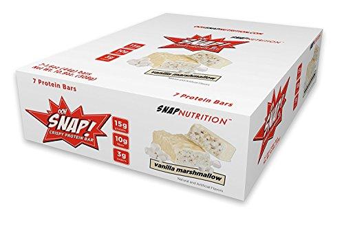 Ooh Snap Nutrition Crispy Protein Bar, Vanilla Marshmallow, 7 Count (Crispy 15 Protein)