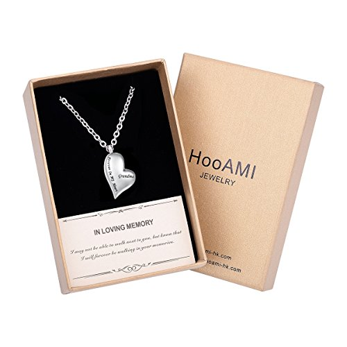 - HooAMI Cremation Jewelry Forever in My Heart Grandma Memorial Urn Necklace