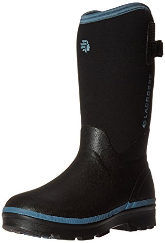 LaCrosse Women's Alpha Range Rain Boot, Black/Cerulean, 8 M US by Lacrosse