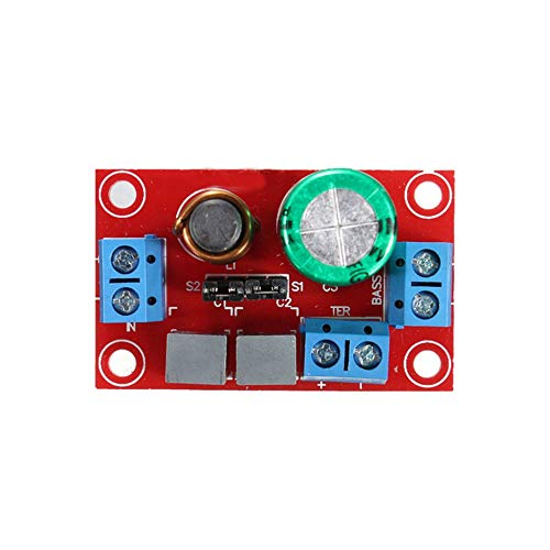 Red Adjustable Treble Bass 2 Way Audio Frequency Divider Speaker Crossover Filters