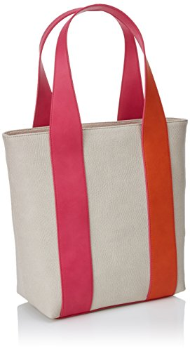 TOUS Patch Greet, Shopper para Mujer, Varios Colores (Multi Nude), 13x33x28 cm (W x H x L)