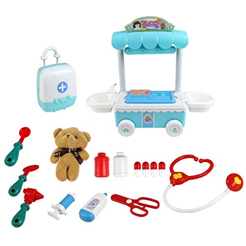 Elaco Kids Role Play Doctor Kit with Electronic Talking Doll Educational Puzzle Toys Pretend Medical Supplies Play Set