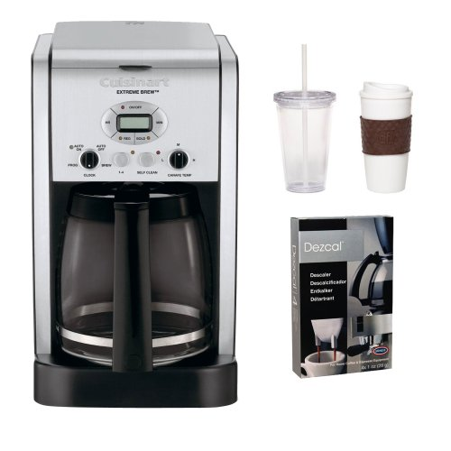Cuisinart DCC-2650 DCC2650 Brew Central 12-Cup Programmable Coffeemaker Refurbished w/ Coffee Mug & Iced Beverage Cup & Coffee/ Espresso Descaler