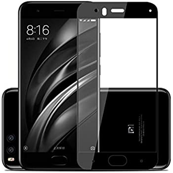 TopACE Bye-Bye-Bubble Premium Quality Tempered Glass 0.3mm Full Cover Screen Protector for Xiaomi Mi 6 (Black)
