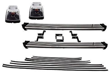 KITT® RBMBW463 - Estribos laterales para correr + molduras para puerta + luces de giro: Amazon.es: Coche y moto