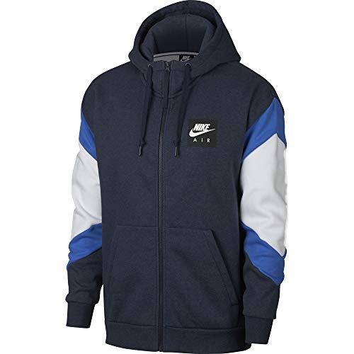 M Fz Nsw Nike Blue Chaqueta Hombre obsidianheather Flc Para white Azul Air Hoodie signal awdwqU