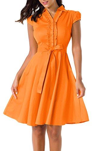 orange 50s dress - 2
