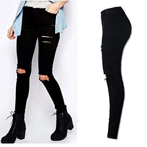 Stretch Haute Pantalon Basic Grün Hx Skinny Taille Uni Jeans Couleur Femmes Fashion Crayon yvnw0m8NO
