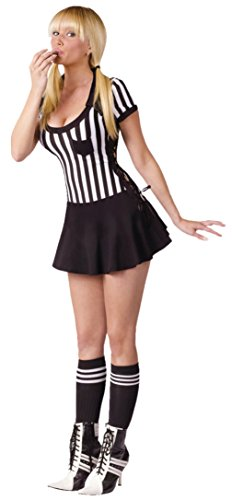 Funworld Womens Sexy Uniforms Sports Racy Referee Halloween Themed Fancy Costume, M/L (10-14) (Holiday Themed Costumes)