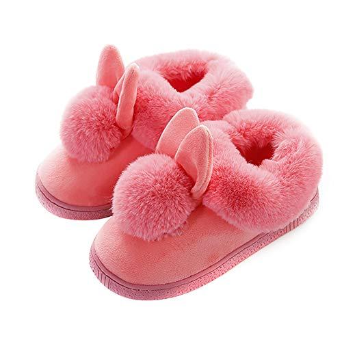 Caoutchouc Coton 38 Antidérapante D'invités S Mousse Vommpe Léger Pink De D'extérieur Pantoufles 39 Red Maison Doux Chaussons Peluche En S Semelle TE80qwf