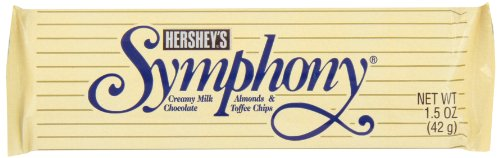 HERSHEY'S Symphony Chocolate Candy Bar with Almonds and Toffee, 1.5 Ounce (Pack of 36)