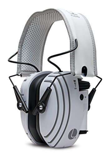 Lucid Audio Amped Sound Amplifying Bluetooth Wireless Hearing Headphones - White/Gray (Hearing Protection, Headphones, Hearing Enhancement, Hearing Amplifier, Sound Reduction, TV Enhancement)