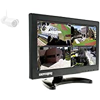 CCTV PC Monitor 11.6 Inch Sourcingbay LCD Video Monitor Home Security Monitor Kit with HDMI/BNC/VGA/AV/USB Port, 1366 768, Compatible with PC/CCTV Camera/DSLR/DVD/Smart Tv Box/Office(Black)