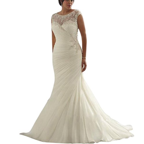 Yxjdress-IvoryWhite-Mermaid-Plus-Size-Sleeveless-Wedding-Dresses-For-Bride