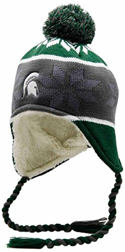 NCAA Michigan State Spartans Adult Women Holloway Ridge Beanie, One Size, Forest