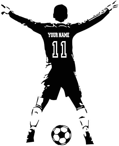 Sport Personalised Football Soccer wall art vinyl decal sticker